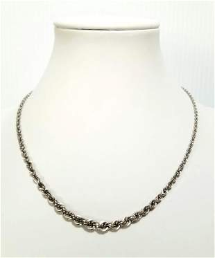 Beautiful Michael Anthony 14KT Rope Chain Necklace
