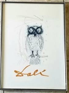 Salvador Dali The Blue Owl Lithograph
