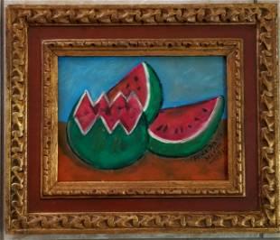 Frida Kahlo 1951 Oil Canvas