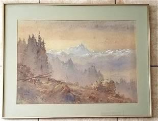 Sydney Laurence 1865-1940 Watercolor