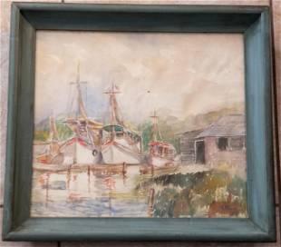 Nell Blaine American Watercolor