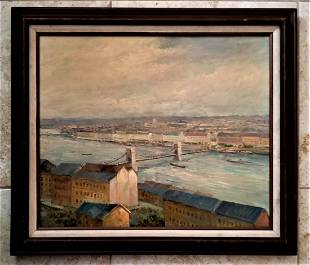 John William Morgan Riverview Oil Canvas