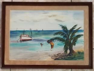 Yong Mun Sen Watercolor/Paper