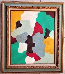 Serge Poliakoff Oil Canvas