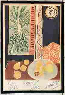 Henri Matisse Vintage Lithograph