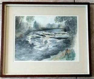 Amazing Fairfield Porter Watercolor/Paper