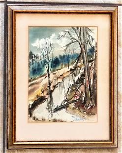 John Whorf 1903-1959 Watercolor/Paper