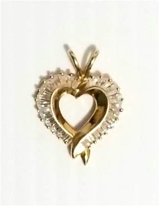 Amazing 14KT Heart Zirconia Pendant