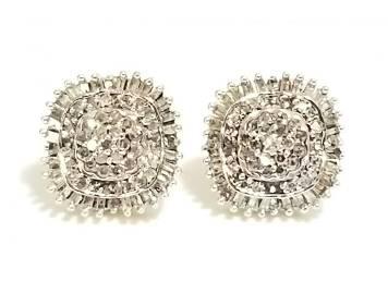 Amazing 10KT Gold Diamond Earrings