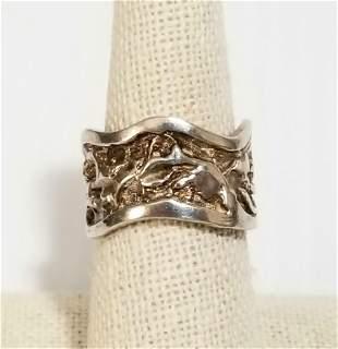 Beautiful Art Deco 925 Sterling Ring