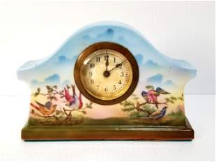 Beautiful Hand Painted Porcelain Table Clock