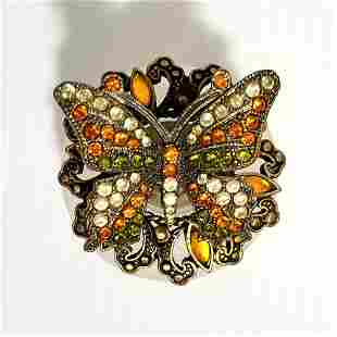 Nice Rhinestones Butterfly Perfume Bottle