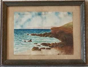 Childe Hassam 1859-1935 Watercolor