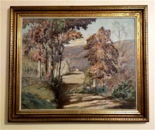 """Maurice Braun Oil Canvas """"Autumn Glow"""""""