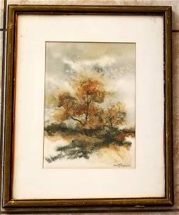 Christ (Ejler) Jorgensen Watercolor/Paper