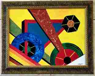 Rolph Scarlett Abstract Oil Canvas