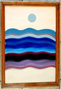 Amazing Lawrence Calcagno 1913 - 1993 Acrylic Canvas