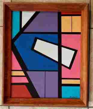Amazing Jose Mijares Abstract Oil Cardboard