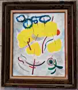 Emil Bisttram Oil Canvas