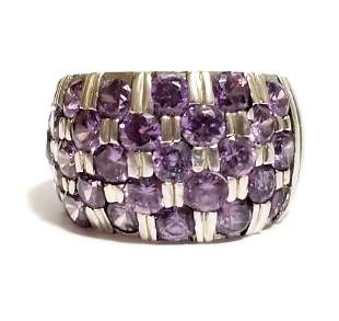 Amazing Sterling Silver Amethyst Ring