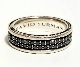 Amazing David Yurman 925 Black Diamond Ring
