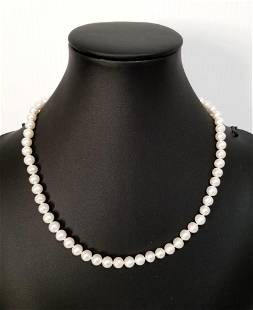 Amazing Silver White Pearl Necklace