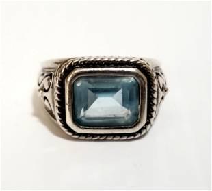 Amazing 925 Sterling Aquamarine Ring