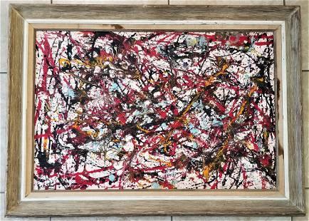 Amazing Jackson Pollock Oil Canvas