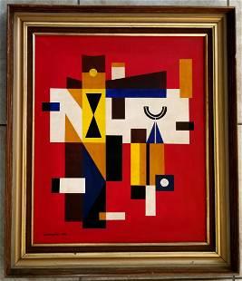 Mario Carreno 1958 Oil Canvas