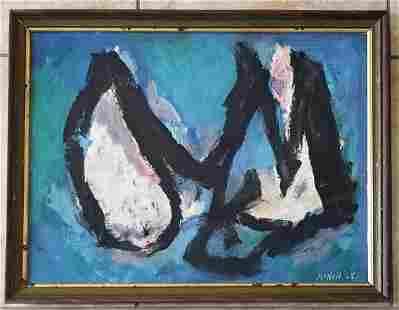 Amazing George McNeil 1965 Acrylic Canvas