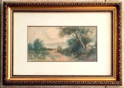 Amazing Charles Krutch 1849-1934 Watercolor