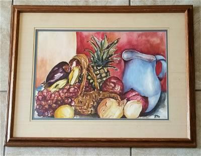 Josephine Mahaffey 1903 - 1982 Still Life Watercolor
