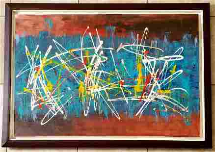 Amazing Antonio Corpora Large Oil Canvas