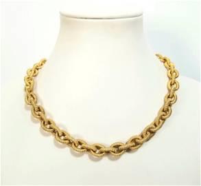 Amazing 14KT Italian Onyx Ruby Necklace
