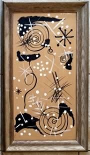 Amazing Gordon Onslow Ford Acrylic Mansonite