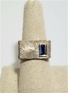 Amazing 925 Sterling Blue Sapphire Ring