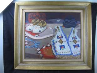 Oil Painting of Indian Items - sgn De Virgilis