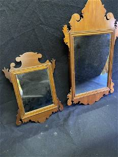 Lot - 2 Antique Chippendale Wall Mirrors