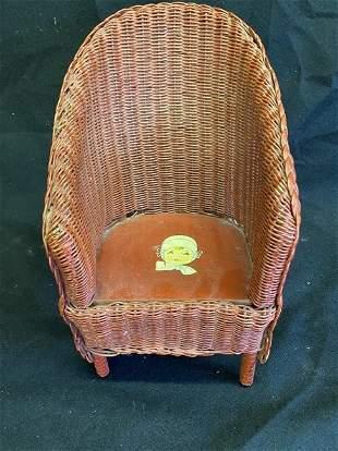 c1920-1930's Doll Wicker Chair