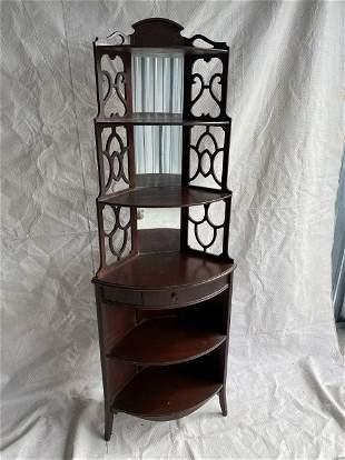 Vintage 1930-40's Ornate Corner Shelf