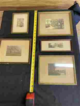 Lot: 5 Small Size Wallace Nutting Type Prints