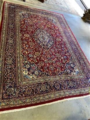 Vintage Persian Kashan Oriental Carpet