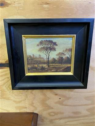 Antique Oil on Canvas Painting