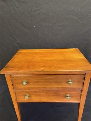 c1830's Hepplewhite Two Draw Stand