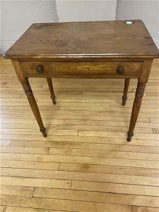 c1900 Oak 1 Draw Ladies Writing Desk