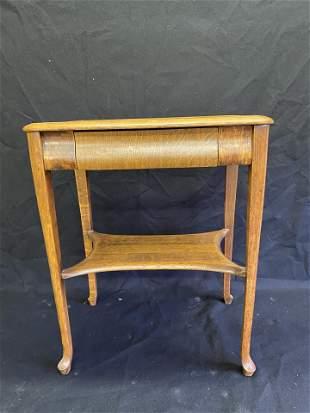Antique Quarter Sawn Oak Lamp Table by RJ Horner