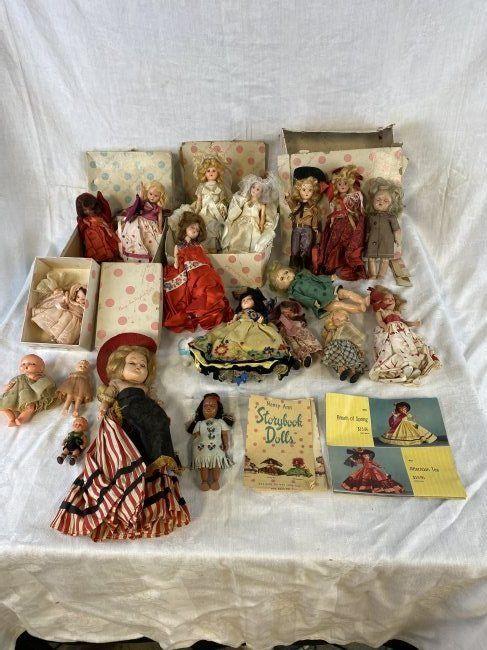 Lot Vintage Nancy Ann Storybook Dolls