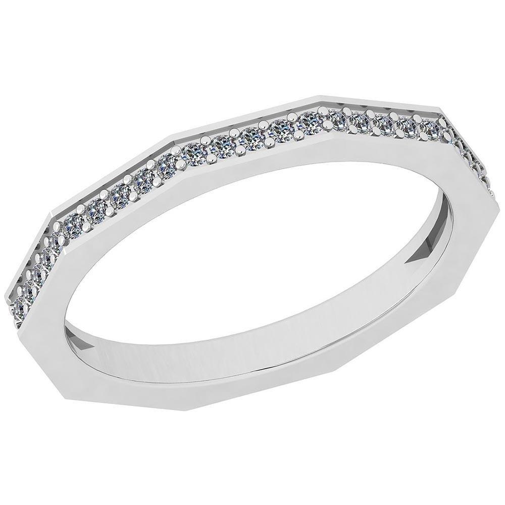 Certified 0.25 Ctw Diamond I1/I2 10K White Gold Ring