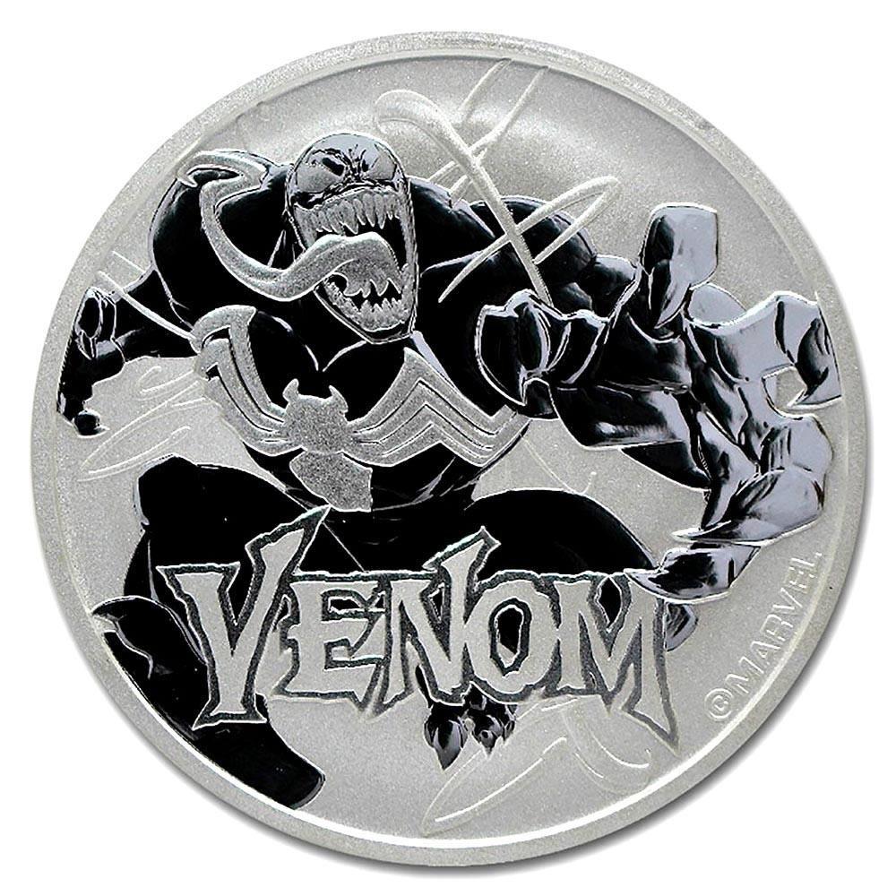 2020 Tuvalu 1 oz Silver $1 Marvel Series Venom BU