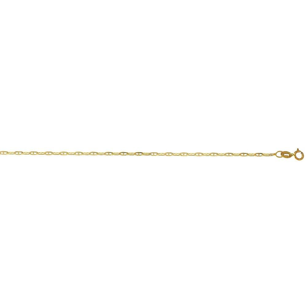 Solid 14K Yellow Gold Open DC Link 20in. Metal Weight: